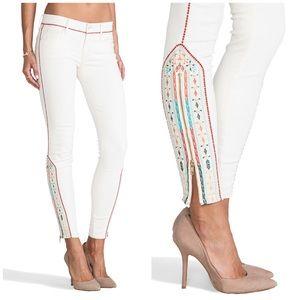 Mother Denim Barefoot Princess Embroidered Jeans